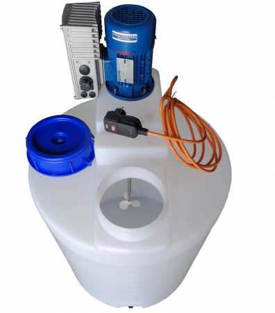 100-litre PE dosing tank plastic container with speed adjustable high-speed mixer