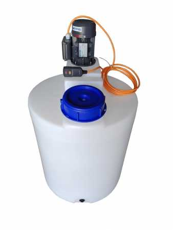 250 liter PE dosing tank container plastic container with propeller agitator high speed mixer