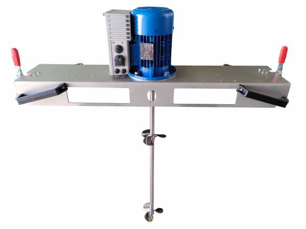 Container agitator type IBC-0150-2PK-230V suitable for liquids with up to 600 mPas in an 1000 liter IBC container
