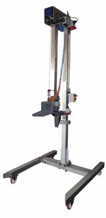 Lifting device with electric cable winch - stand for mixers for 1000 litre containers. (Standard IBC).