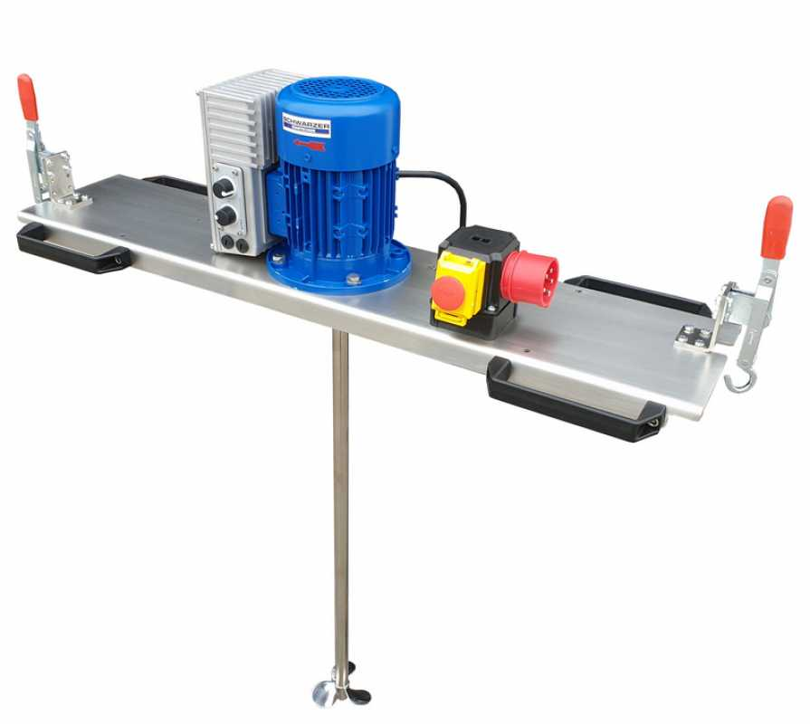 IBC - Container agitator Type: IBC-0140 suitable for liquids with up to 600 m/Pas in an 1000 liter IBC container